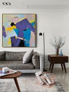 CZ ART DESIGN - Hand Painted Palette Knife Contemporary painting canvas art #L62A.
