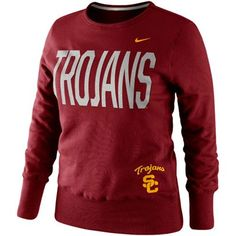USC Trojans Sweatshirt: http://pin.fanatics.com/COLLEGE_USC_Trojans_Ladies/Nike_USC_Trojans_Ladies_Classic_Fleece_Crew_Sweatshirt_-_Cardinal/source/pin-usc-sweats-sale-sclmp