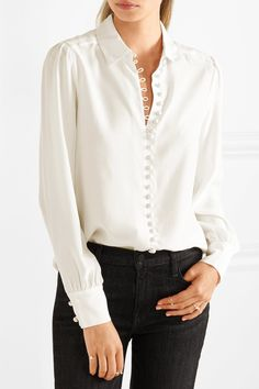 Frame | Le Victorian washed-silk blouse | NET-A-PORTER.COM
