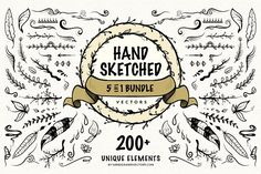 Hand Sketched Vectors Bundle - Illustrations
