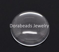 DoreenBeads Free Shipping! 10 Clear Round Glass Dome Seals 25mm (B14324)