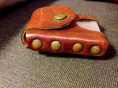 Vintage Leather Zippo Holster von TheLeafery auf Etsy