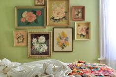 beautiful floral bedroom picture by girlhula, via Flickr I LOVE LOVE LOVE thissssss!!!!!!