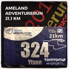 Ameland Adventurerun in Nes. 21,1 km in 1:35:18.