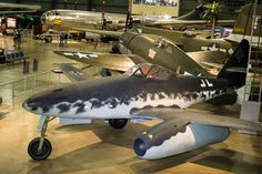Developed from a 1938 design by the Messerschmitt company, the Me 262 Schwalbe was the world's first operational turbojet aircraft. First flown under jet power on July it proved much faster than conventional airplanes. Ww2 Aircraft, Fighter Aircraft, Military Aircraft, Fighter Jets, Air Force Bases, Us Air Force, Luftwaffe, Me262, Messerschmitt Me 262