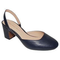 Women's Who What Wear Annalise Slingback Pumps - Navy (Blue) 9.5