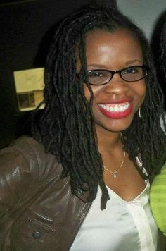 Locs. Ruby Woo. Glasses.  Love it!