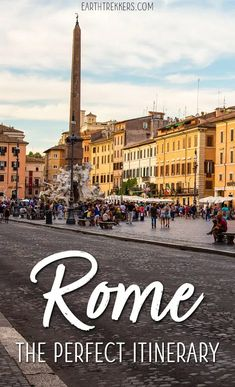 2 Day Rome Itinerary: Colosseum, Vatican, St. Peter's Basilica, Borghese, Piazza Navona, Trevi Fountain, and the Pantheon. #rome #romeitinerary #italy #bucketlist