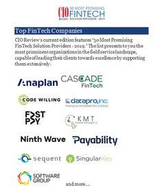 Top FinTech Companies - Technology Blog 1 - Medium Core Banking, Chief Financial Officer, Financial Planning, Finance, Management, Coding, Technology, How To Plan, Medium