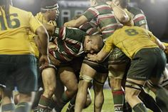 Leicester Tigers V Australia Leicester Tigers, Rugby Players, Australia, Baseball Cards, Sports, Hs Sports, Sport