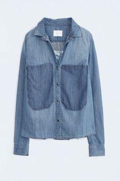 Chemise Zadig et Voltaire, manches longues, fermeture boutons pressions, 100% coton. Taille normalement, prenez votre taille habituelle.