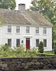 ~ colonial saltbox . . .front . . .no exterior shutters . . .