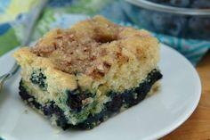 Healthy Blueberry-Lemon Coffee Cake Recipe