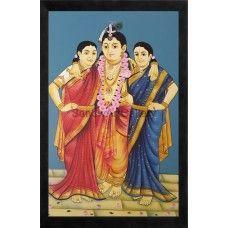 Ravi Varma Krishna Bama Rukmani   #Ravivarmapaintings #Artgallery