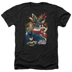 JLA/Starburst Adult Heather T-Shirt in