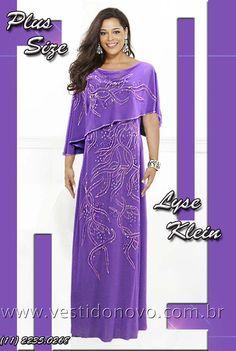 Vestido Mae do noivo, com manga e pedraria na cor lilas - CASA DO VESTIDO NOVO (11) 2274-9604 ou 2235-0268