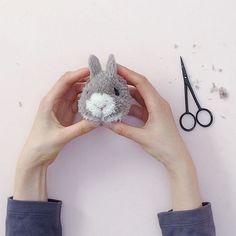 How To Make a Bunny Pom Pom - Pom Maker Blog