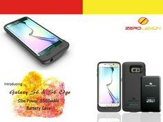 Samsung Galaxy S6 and S6 Edge 3500mAh Battery Case. Up to 110% additional charge.