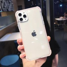 For iPhone 11 Pro Max Xs X 8 Transparent Slim Tpu Diamond Hand Strap Case Cover Cute Cases, Cool Phone Cases, Iphone Phone Cases, White Iphone, Silicone Phone Case, Red Design, Coque Iphone, Iphone Models, Iphone 8 Plus