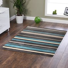 Brush Strokes Blue Tufted Rug by Network Rugs. Get it now or find more All Rugs at Temple & Webster. Bedroom Furniture, Modern Furniture, Sheepskin Rug, Striped Rug, Geometric Rug, Rug Sale, Buy Rugs, Round Rugs, Rugs Online