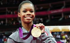 American Gabby Douglas Wins Gold in Women's Gymnastics All-Around at the 2012 London Olympics - #olympics