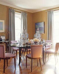 Benjamin Moore hathaway gold    The dining room above, by designer Amanda Nisbet, has walls painted Benjamin Moore Hathaway Gold (194) – shown in the swatch.: