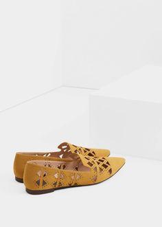 Die-cut design shoes   MANGO