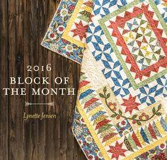 Course   Kit: 2016 Garden Charm Block Of The Month Kit - White