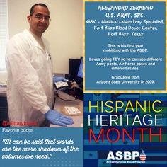 Celebrating #HispanicHeritageMonth: @USArmy Spc. Alejandro Zermeno #alltypesneeded #donateblood #infuselife #military