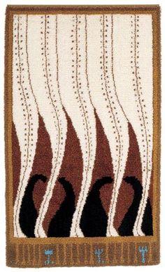 ryijy Scandinavian Embroidery, Simple Geometric Designs, Rya Rug, Art Nouveau, Art Deco, Geometry Pattern, Cool Rugs, Rug Hooking, Handmade Rugs