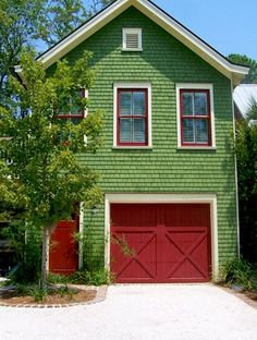 Bright Green House On Pinterest Green Houses Exterior Color Schemes And Bright Green