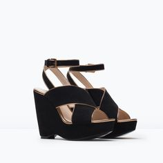 ZARA - COLLECTION SS15 - Suede wedge