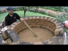 My first Pompeii Brick Pizza Oven - Time Lapse Video - YouTube