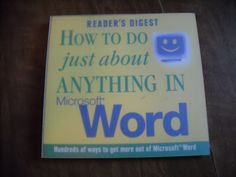 Reader's Digest How to do Just About Anything in Microsoft Word (2001) ~~ For Sale At Wenzel Thrifty Nickel eCRATER store