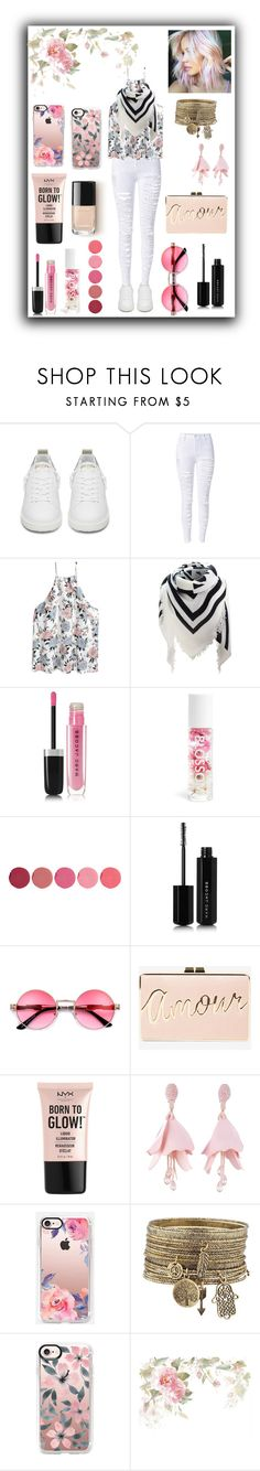 """Stylish flower"" by queenmadhatteres ❤ liked on Polyvore featuring Golden Goose, Marc Jacobs, Blossom, Kjaer Weis, BCBGMAXAZRIA, NYX, Oscar de la Renta and Casetify"