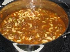Hamburger Soup is a quick and easy meal loaded with vegetables, lean beef, diced tomatoes and potatoes. It's great made ahead of time, reheats well and freezes perfectly. This Hamburger Soup is simple classic comfort food, Slow Cooker Recipes, Crockpot Recipes, Soup Recipes, Cooking Recipes, Recipies, Chili Recipes, Yummy Recipes, Dinner Recipes, Cajun Recipes