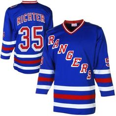 Mens New York Rangers Mike Richter Mitchell  amp  Ness Royal Throwback  Authentic Vintage Jersey Nhl 2372b2312