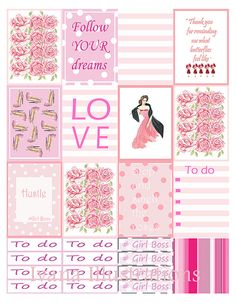 Printabel planner stickers cottage chic by IvanaIllustrations