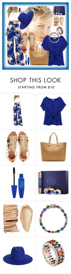 """""""beautifulhalo 126"""" by mamiigou ❤ liked on Polyvore featuring Visconti & du Réau, Victoria Beckham, Maybelline, Guerlain, Lenox, Niquesa, women's clothing, women, female and woman"""