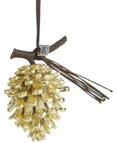Michael Aram Gold-Tone Pine Cone Ornament