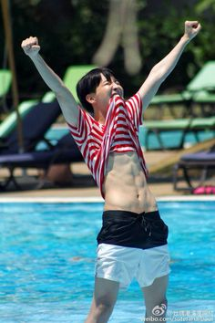 His abs need more appreciation. #JHope #Hobi