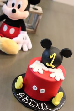 Mickey Mouse Birthday Cake For One Year Old Baby Abdul