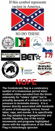 Equating the NAACP with the Confederacy is like equating political dissension with despotism. One promotes the lives and rights of a maligned group of people. The other protects the hegemony of their people at the horrific expense of others.