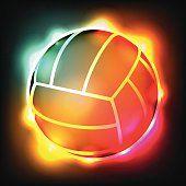 Éclatante Illustration vectorielle coloré de volley-ball