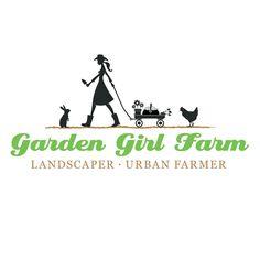Garden Girl Farm brand identity / logo by Axion Design.