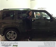 Thank you to Lauren Light on your new 2008 #Jeep #Patriot from Eric Ewing and everyone at Monroeville Chrysler Jeep! #NewCar