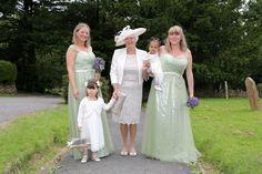 Wedding of the Week: Oliver Seyfried and Rebecca Grainger | Sage green bridesmaids' dresses | weddingsite.co.uk