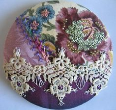 Crazy Quilt Stitches | Crazy Quilt Pincushions by mamie