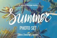 Summer photo set by Diana Vyshniakova on @creativemarket