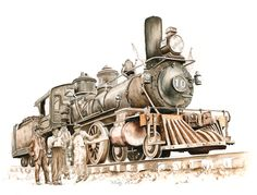 old steam trains pencil drawings - Yahoo Image Search Results